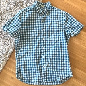J Crew Blue Gingham Shirt Size S